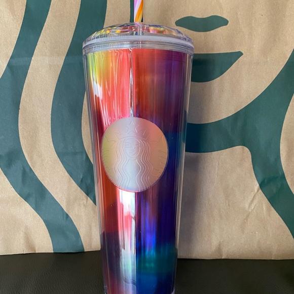 Starbucks Rainbow Kaleidoscope Tumbler-Summer